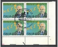 1990 - REPUBBLICA - SISTEMA MKS GIORGI - QUARTINA FDC - LOTTO/28901