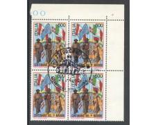 1990 - REPUBBLICA - CENTENARIO I° MAGGIO - QUARTINA FDC - LOTTO/28902