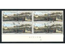 1989 - REPUBBLICA - FERROVIA NAPOLI PORTICI - QUARTINA USATI - LOTTO/28909