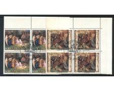 1990 - REPUBBLICA - NATALE 2v. - QUARTINE FDC - LOTTO/28918