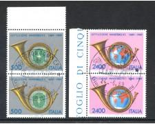 1989 - REPUBBLICA - CENTENARIO MINISTERO POSTE - COPPIA FDC - LOTTO/28921