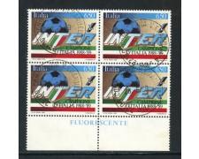 1989 - REPUBBLICA - INTER CAMPIONE D'ITALIA - QUARTINA USATA - LOTTO/28922