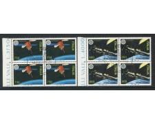 1991 - REPUBBLICA - EUROPA SPAZIALE 2v. - QUARTINE FDC - LOTTO/28930