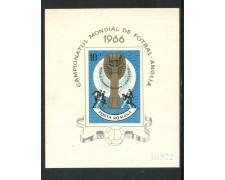 1966 - ROMANIA - MONDIALI DI CALCIO - FOGLIETTO NUOVO - LOTTO/29328