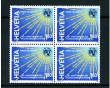 1994 - LOTTO/3108Q - SVIZZERA - SERVIZIO - 1,80 Fr. RADIOCOMUNICAZIONI - QUARTINA NUOVI