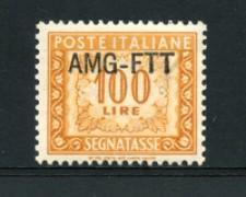 1949/54 - LOTTO/17367 - TRIESTE A - 100 LIRE SEGNATASSE - NUOVO
