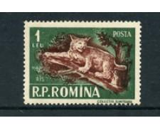1956 - LOTTO/5077 - ROMANIA -  1 LEU LINCE - NUOVO