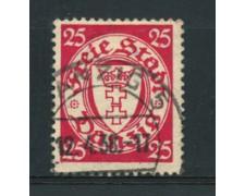 1938/39 - LOTTO/5189 - DANZICA - 25p. CARMINIO - USATO