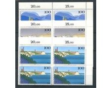 1993 - LOTTO/5325Q - GERMANIA - VEDUTE 3v. - QUARTINE NUOVI