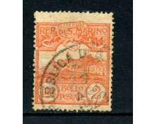 1921/23 - LOTTO/5646A - S.MARINO - 2 LIRE ARANCIO USATO