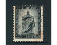 1949 - LOTTO/6079UB - REPUBBLICA - 20 Lire MONUMENTO A MAZZINI - USATO