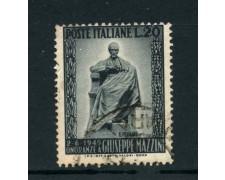 1949 - LOTTO/6079UD - REPUBBLICA - 20 Lire MONUMENTO A MAZZINI - USATO
