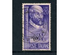 1949  - ITALIA REPUBBLICA - ANDREA PALLADIO - USATO - LOTTO/6083UB