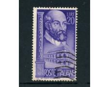 1949 - ITALIA REPUBBLICA - ANDREA PALLADIO - USATO - LOTTO/6083UD