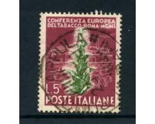 1950  - REPUBBLICA - 5 LIRE TABACCO USATO - LOTTO/6109U