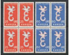 1958 - LOTTO/6337Q - REPUBBLICA - EUROPA 2v. - QUARTINE NUOVE