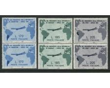1961 - LOTTO/6385A - REPUBBLICA - VISITA GRONCHI 3v. - COPPIE NUOVI