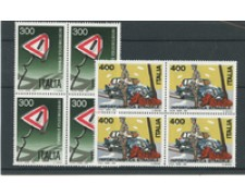 1984 - LOTTO/6803Q - REPUBBLICA - PREVENZIONE INCIDENTI 2v. - QUARTINE