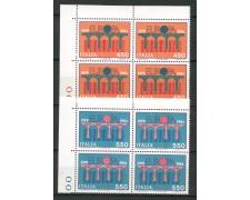 1984 - LOTTO/6812Q - ITALIA - EUROPA 2v. - QUARTINE NUOVI