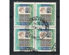 1987 - LOTTO/6867QC - REPUBBLICA - 20.000 LIRE - QUARTINA USATA