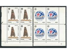 1992 - LOTTO/6987Q - REPUBBLICA - EUROPA SCOPERTA DELL'AMERICA 2v. - QUARTINE NUOVI