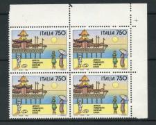 1992 - LOTTO/6994Q - REPUBBLICA - RIMINI SPIAGGIA - QUARTINA NUOVI
