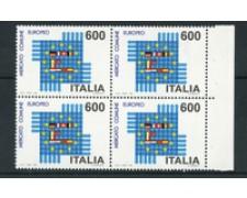 1992 - LOTTO/7001Q - REPUBBLICA - MERCATO EUROPEO QUARTINA - NUOVI