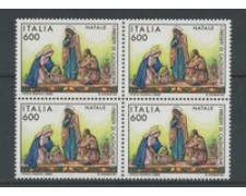 1992 - LOTTO/7003Q - REPUBBLICA - NATALE  QUARTINA NUOVI
