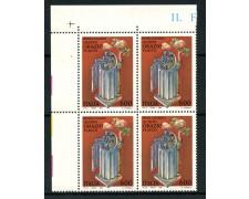 1993 - LOTTO/7012Q - REPUBBLICA  - ORAZIO FLACCO - QUARTINA NUOVI