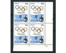 1994 - LOTTO/7048Q - REPUBBLICA - COMITATO OLIMPICO - QUARTINA NUOVI