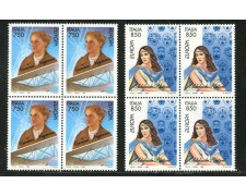 1996 - REPUBBLICA - EUROPA DONNE CELEBRI 2v. - QUARTINE NUOVI - LOTTO/7101Q