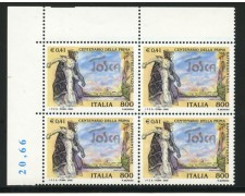 2000 - LOTTO/7257Q - REPUBBLICA - OPERA LIRICA LA TOSCA - QUARTINA NUOVI