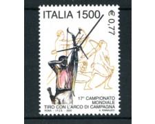 2000 - LOTTO/7281 - REPUBBLICA - TIRO CON L'ARCO - NOVO