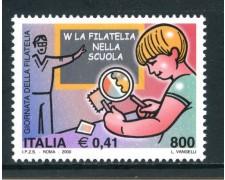 2000 - REPUBBLICA - GIORNATA DELLA FILATELIA - NUOVO - LOTTO/7290