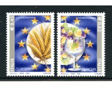 2005 - LOTTO/7509 - REPUBBLICA - EUROPA GASTRONOMIA 2v. - NUOVI