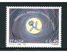 2005 - LOTTO/7520 - REPUBBLICA - GIORNATA MONDIALE CONTRO LA DROGA - NUOVO