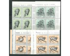 1971 - LOTTO/7931 - SAN MARINO - ARTE ETRUSCA 4v. - QUARTINE NUOVI