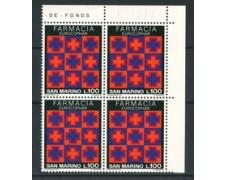 1975 - LOTTO/7962Q - SAN MARINO - CONGRESSO DI FARMACIA - QUARTINA  NUOVI