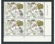 1977 - LOTTO/7980Q - SAN MARINO - ANNO DEL REUMATISMO - QUARTINA NUOVI