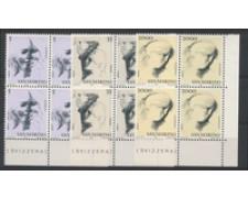 1978 - LOTTO/7988Q - SAN MARINO - VIRTU' CIVILI 3v. - QUARTINE NUOVI