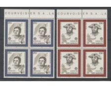 1980 - LOTTO/8005Q - SAN MARINO - EUROPA 2v. - QUARTINE NUOVI