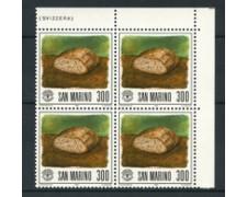 1981 - LOTTO/8020Q - SAN MARINO - GIORNATA ALIMENTAZIONE - QUARTINA NUOVA