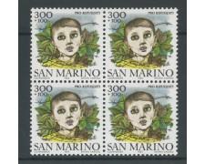 1982 - LOTTO/8032Q - SAN MARINO - PRO RIFUGIATI - QUARTINA NUOVI