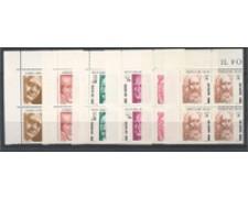 1983 - LOTTO/8033Q - SAN MARINO - SCIENZIATI 6V.- QUARTINE NUOVI