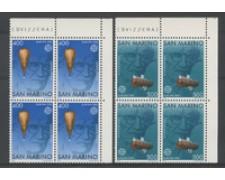1983 - LOTTO/8035Q - SAN MARINO - EUROPA 2v. - QUARTINE NUOVI