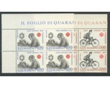 1983 - LOTTO/8036Q - SAN MARINO - ANNO DELLE COMUNICAZIONI 2V. QUARTINE