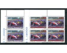 1983 - LOTTO/8037Q - SAN MARINO - GRAN PREMIO 2v - QUARTINE NUOVI