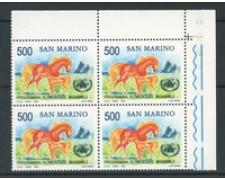 1983 - LOTTO/8040Q - SAN MARINO - PROGRAMMA ALIMENTARE - QUARTINA  NUOVI