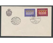 1984 - SAN MARINO - EUROPA 2 VALORI - BUSTA FDC - LOTTO/8043ZA