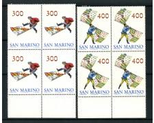1984 - SAN MARINO - SBANDIERATORI 2 VALORI - QUARTINA NUOVI - LOTTO/8044Q